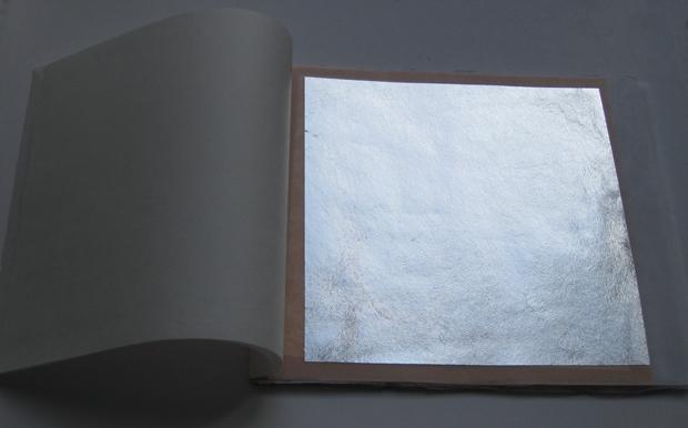 Argento in foglia a decalco spessore normale 9,5x9,5 cm - vendita