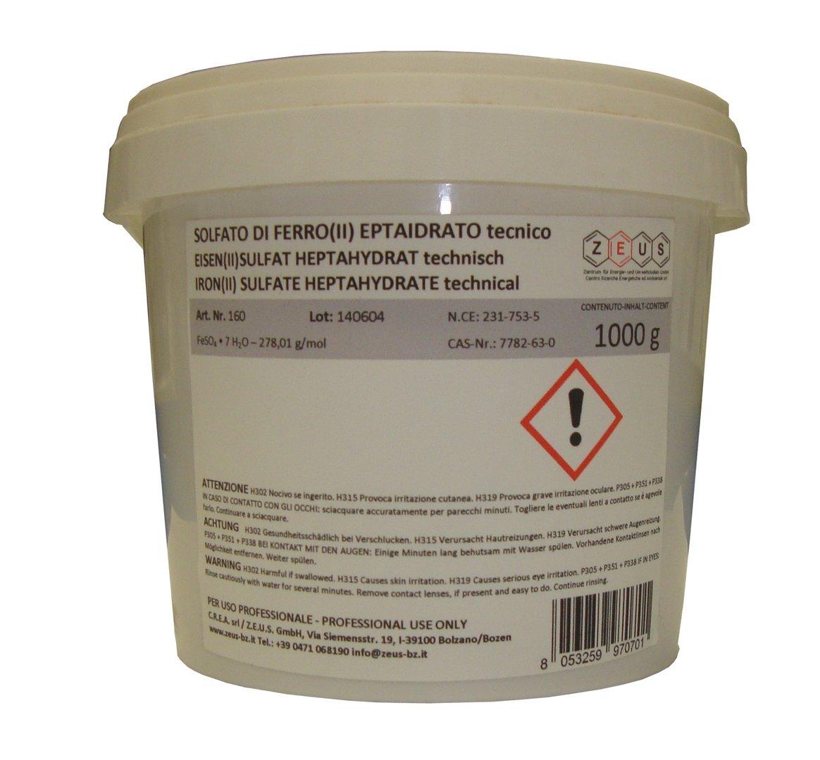 Solfato di ferro ii eptaidrato tecnico feso4 x 7 h2o for Prezzo del ferro vecchio al kg