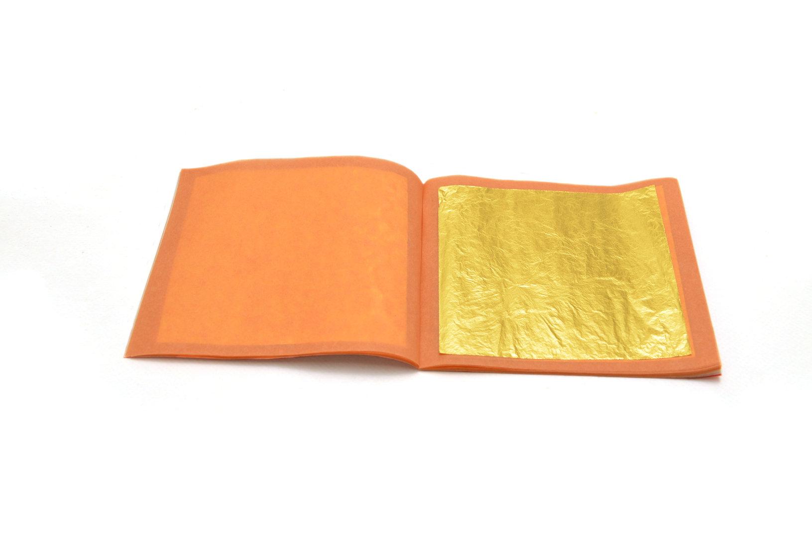 Oro 24 kt in foglia libera triplo spessore 8x8 cm - vendita