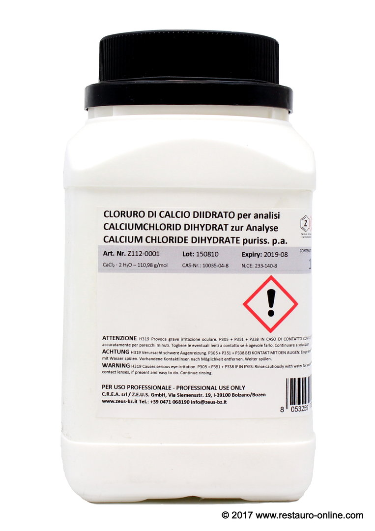 Calcium chloride dihydrate puriss  p a  (CaCl2 x 2 H2O)