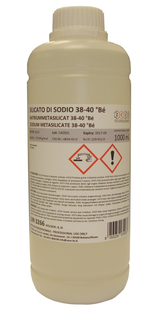 Sodium Silicate Waterglass Na2sio3 1 Litre Buy Online