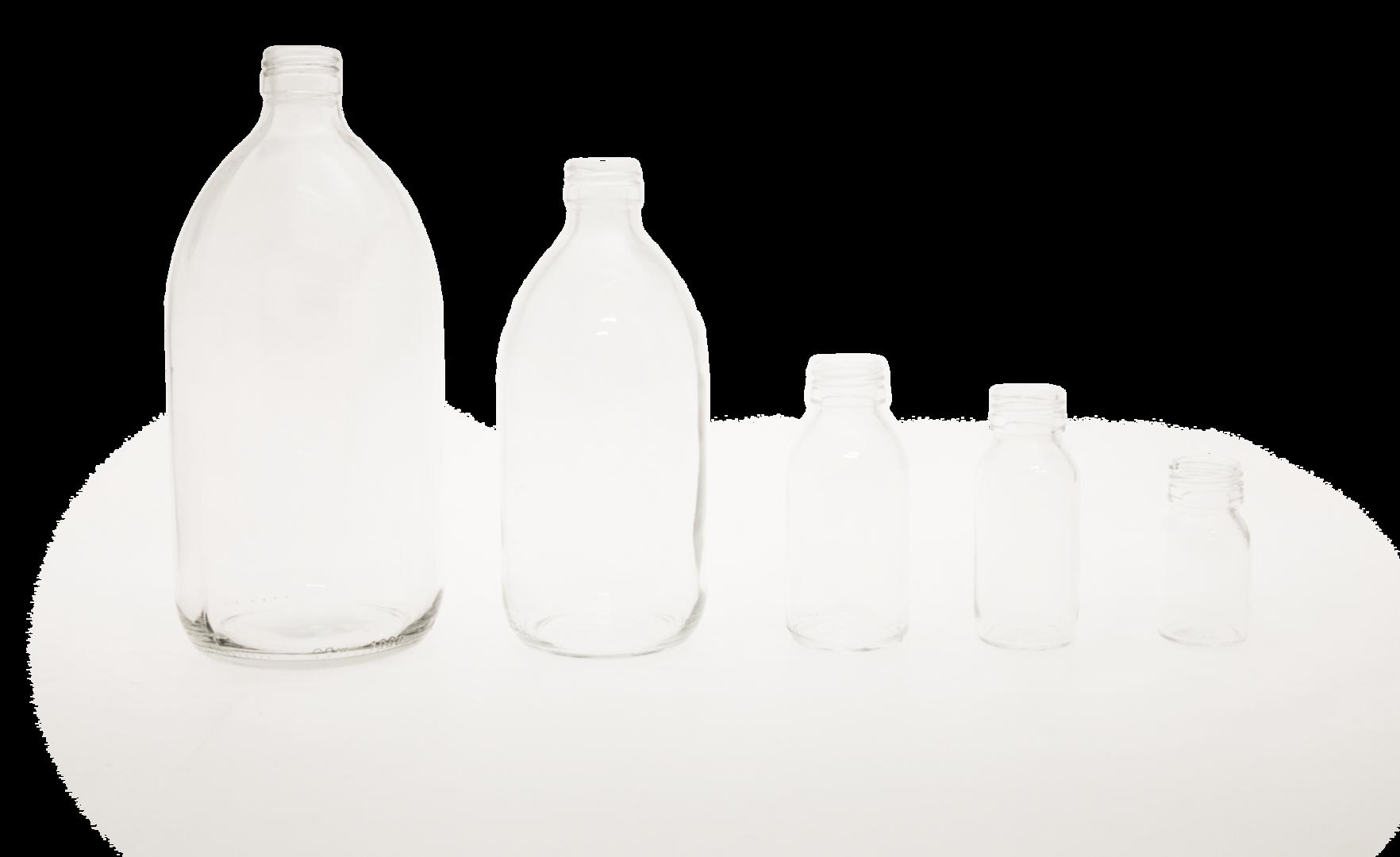 Botella de vidrio transparente con tapa de rosca pp28 venta - Vidrio plastico transparente precio ...