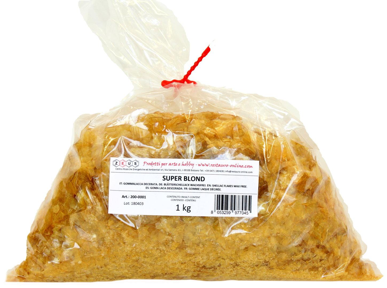 100g Schellack Blond Schellackflocken Blätterschellack Flocken Wachsfrei A+