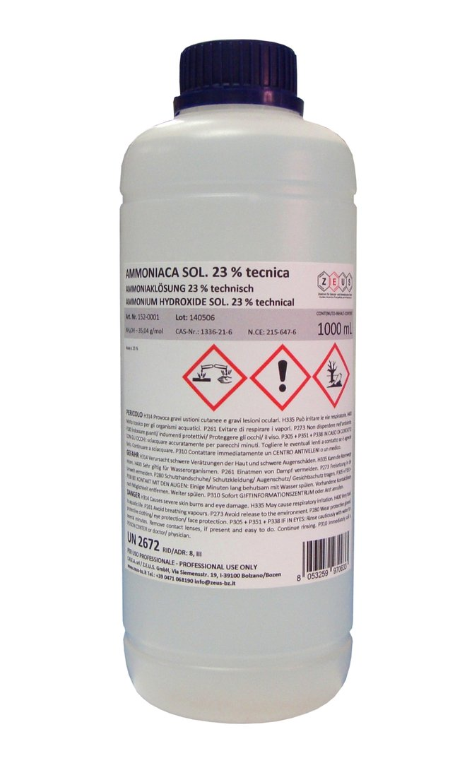 AMMONIA SOLUTION (UN 3318); AMMONIA, ANHYDROUS (UN 1005) : Lung Damaging Agent